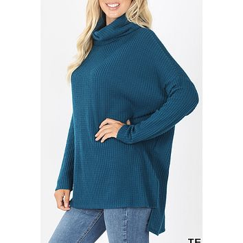 Thermal Waffle Knit Sweater