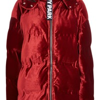 Velvet Puffer Jacket by Ivy Park - New In Fashion - New In