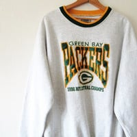 Vintage 1996 Green Bay Packers NFC Central Champions Pullover Sweatshirt Sz XL