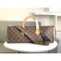 LV Louis Vuitton Women Leather Shoulder Bags Satchel Tote Bag Handbag Shopping Leather Tote Crossbody 40CM