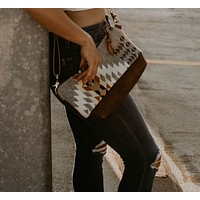 The Sutton Crossbody in Pendleton® wool and Leather