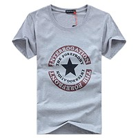 New Large Size Summer Brand T-Shirt Man Round Collar Short Sleeve Fashion T Shirt