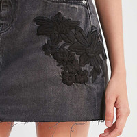 BDG Embroidered Denim Mini Skirt   Urban Outfitters