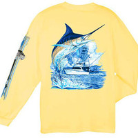 Guy Harvey Mens Wear - Long Sleeve Tee Shirts - CAL TEES / GUY HARVEY SHIRTS