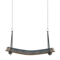 RETIRED WINE BARREL SWING   Wooden, Stave, Recycled   UncommonGoods