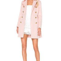Red Valentino Double Breasted Coat in Nude | REVOLVE