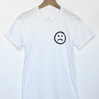 Funny Sad Face tee in White