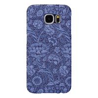 Floral and Ribbon in Blue Samsung Galaxy S6 Case