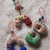 Felted Monogram Ornament by Anthropologie Assorted