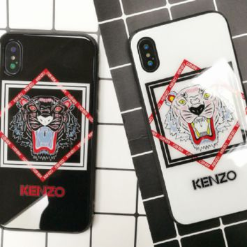 KENZO:print phone shell phone case for Iphone X