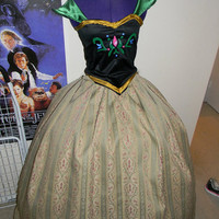 Anna Frozen Coronation Dress Cosplay Costume