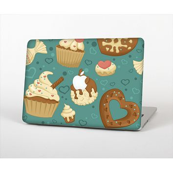 """The Teal and Brown Dessert iCons Skin Set for the Apple MacBook Pro 15"""""""