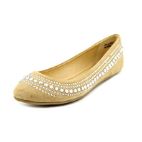 CL by Laundry Hillary Women's Shoe. Ballet inspired. Vegan Friendly Sand Color Suede. Size 6.5