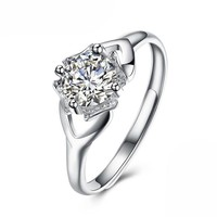 Resizable Silver Wedding or Engagement Ring