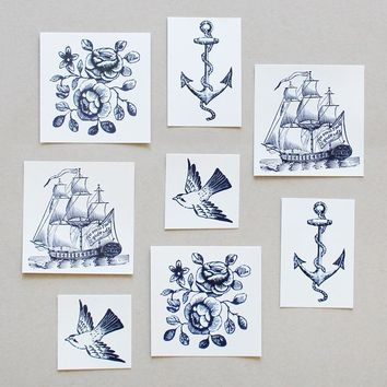 nautical temporary tattoos