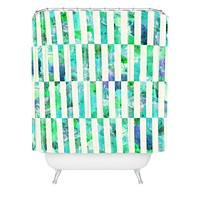Bianca Green Floral Order Mint Shower Curtain