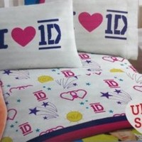 One Direction Band Twin Sheet Set Pillow Bed Bedding FREE SHIPPING