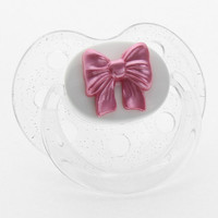 Pink Bow Orthodontic Pacifier