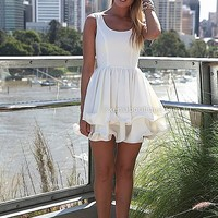 ELIXIR FRILL DRESS , DRESSES, TOPS, BOTTOMS, JACKETS & JUMPERS, ACCESSORIES, SALE, PRE ORDER, NEW ARRIVALS, PLAYSUIT, Australia, Queensland, Brisbane
