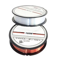 100m/109yards Nylon Super Strong White High Performance Fishing Line Tackle