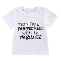 Cool Kid Toddler Newborn Baby Girls Boys Short Sleeve Letter Printed T-shirt Tops Cotton Clothes 2-5T