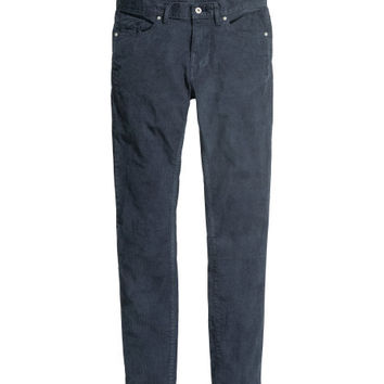Corduroy Pants Skinny fit - from H&M