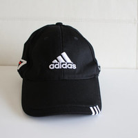 Vintage Adidas Fitted Cap Hat Adidas Trefoil Taylor Made Golf Cap Telus  Embroidered Black Rare 90s Deadstock Sport Cap Unisex