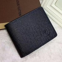 Louis Vuitton LV Men Leather Purse Wallet