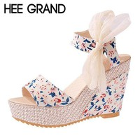 Womens Floral Wedges
