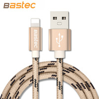 Bastec Newest 8 pin Metal Braided Wire Sync Data Charger USB Cable for iPhone 7 6s 6 plus 5 5s iPad 4 mini 2 3 Air 2