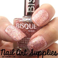 Pink Shimmer- Light Pink Fine Glitter Nail Polish Lacquer 16ml from nailartsupplies