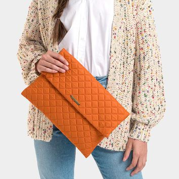 Rectangular Quilted Magnetic Clutch Bag (Click For More Colors)
