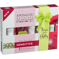 Andalou Naturals 1000 Roses Get Started Kit - 5 Count - Exfoliator - Toner - Mask - Day Cream - Night Cream