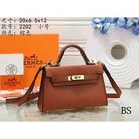 Hermes Women's Fashion Leather Tote Shoulder Crossbody Bag size:20*6.5*12