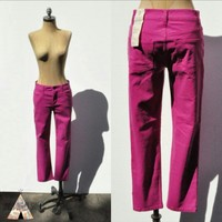 NEW Skinny Pink JEANS Cropped Heritage Size 2