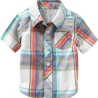 Old Navy Plaid Short Sleeved Shirts For Baby