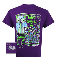 Girlie Girl Originals Breast Cancer We Give A Hoot Purple Bright T Shirt