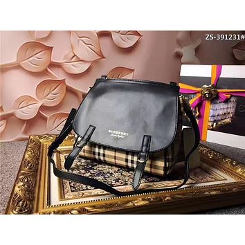 BURBERRY WOMEN'S EQUERTRIAN STYLE LEATHER BACKPACK BAG