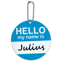 Julius Hello My Name Is Round ID Card Luggage Tag