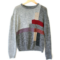 Britannia Vintage 80s Abstract Rectangles Ugly Cosby Sweater
