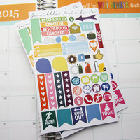 Try Me Pack! //  48 Die-Cut Stickers // (Perfect for Erin Condren Life Planners)