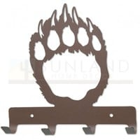 7in. Metal Wall Hooks - Paw Print - Rust
