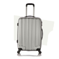 Set of 1 piece travel luggage 4 wheels trolleys suitcase bag hard shell Color Cray 28-inch