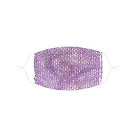 Lavender Mesh Jewel Face Mask With Adjustable Loops