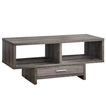 """17'.75"""" x 42'.25"""" x 18"""" Dark Taupe With Storage - Coffee Table"""