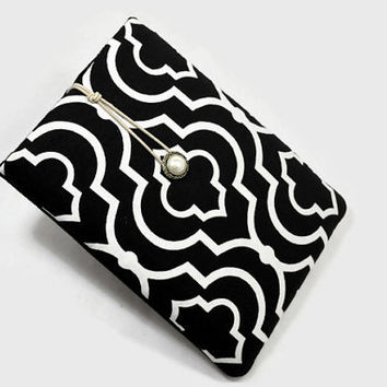 Hand Crafted Tablet Case from Black and White Fabric/Case for:iPad,Kindle Fire HDX,Samsung Galaxy Tab, Google Nexus, iPad Air, Nook HD