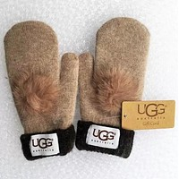 UGG Winter Women Men Keep warm Lovely Couples Glove More Color Choice Khkai