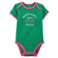 Carter's Family Slogan Bodysuit - Baby Girl, Size: