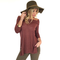 Latching Onto You Tunic Blouse In Brick