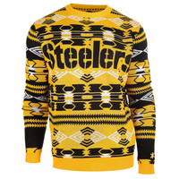 Pittsburgh Steelers KLEW Forever Collectibles Aztec Ugly Sweater S-XXL w/ Priority Shipping